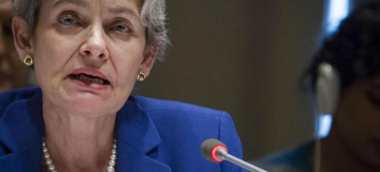 Irina Bokova. Foto: ONU/Rick Bajornas