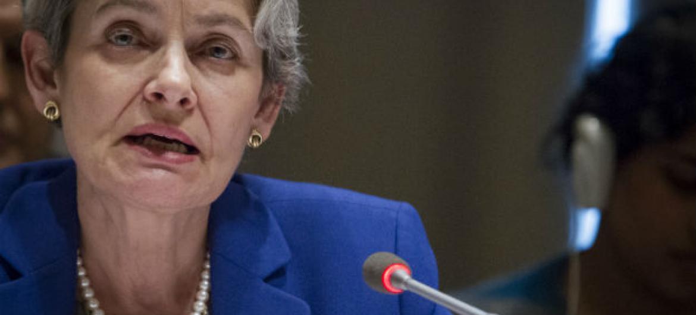 Irina Bokova. Foto: ONU/Manuel Elias