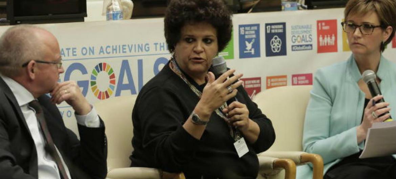 Izabella Teixeira. Foto: ONU/Evan Schneider