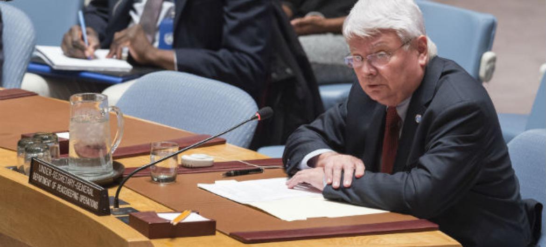 Hervé Ladsous nesta sexta-feira no Conselho de Segurança da ONU. Foto: ONU/Eskinder Debebe