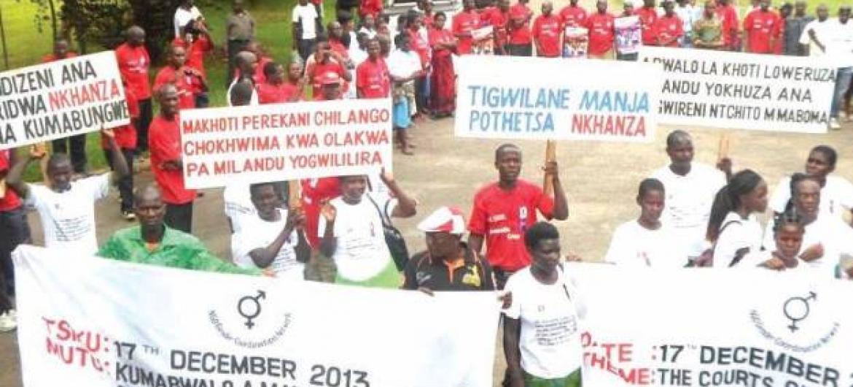 ONU quer sensibilização para incentivar denúncia de crimes à polícia. Foto: Pnud/Malaui.