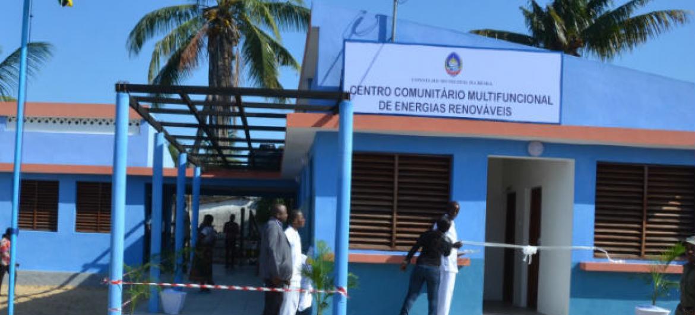Centro Comunitário Multifuncional de Energias Renováveis na Beira, Moçambique. Foto: ONU-Habitat.