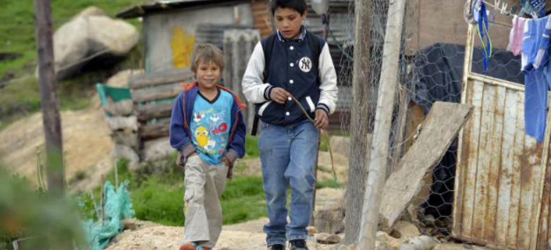 Crianças deslocadas em Soacha, Colômbia. Foto: Acnur/S.Rich