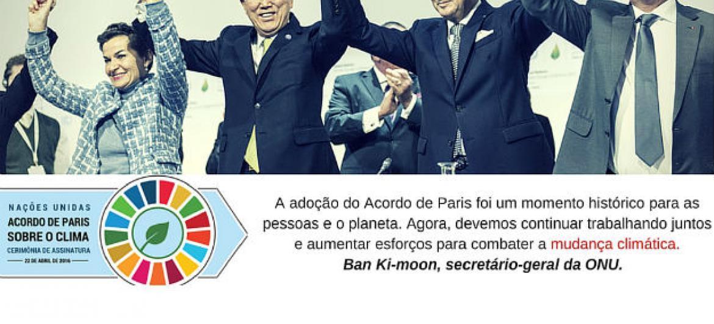 Acordo de Paris sobre mudança climática entra em vigor nesta sexta-feira, 4 de novembro.