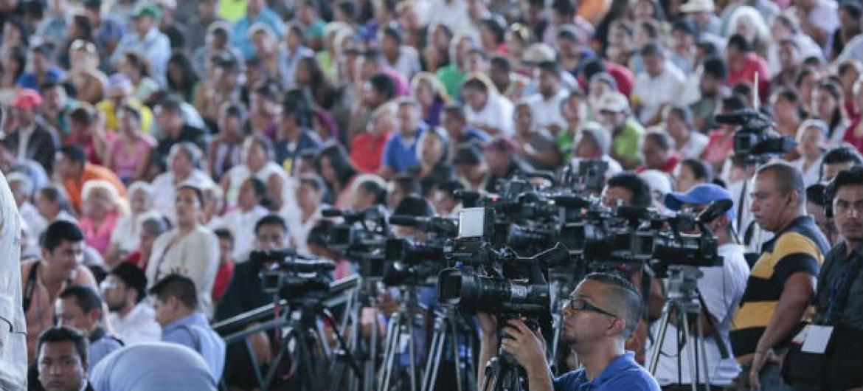 A chefe da Unesco emite declarações sobre o assassinato de trabalhadores da mídia conforme resolução 29 adotada pelos Estados-membros da agência. Foto: ONU/Evan Schneider