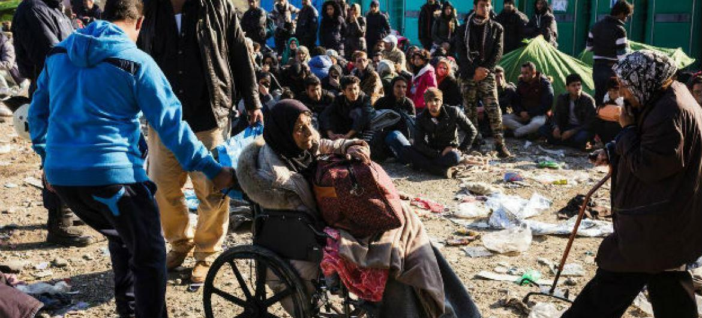 Refugiados sírios na Grécia. Foto: Acnur/Achilleas Zavallis