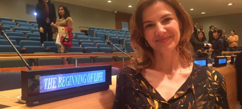 """A diretora do documentário""""O Começo da Vida"""",Estela Renner.Foto: Rádio ONU"""