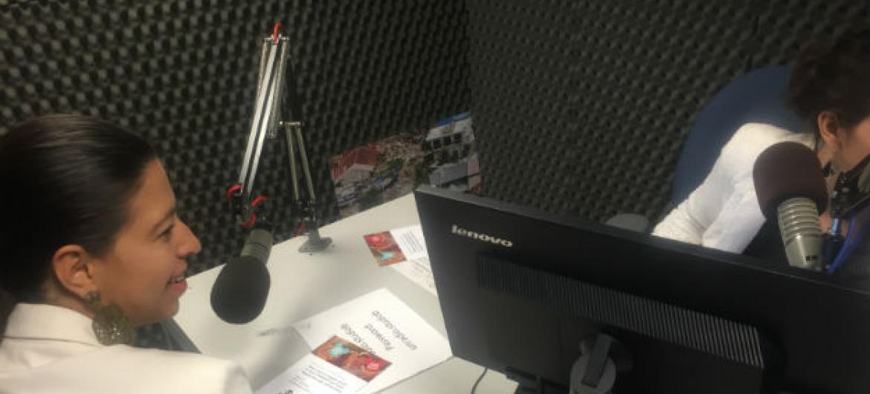 Diretora do Unaids no Brasil, Georgiana Braga-Orillard, em entrevista à Rádio ONU.