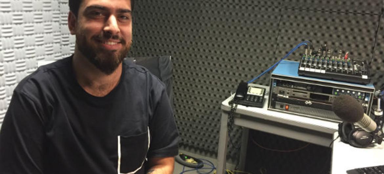 Gabriel Estrela. Foto: Rádio ONU