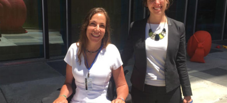 Mara Gabrilli e Laura Gelbert. Foto: Rádio ONU