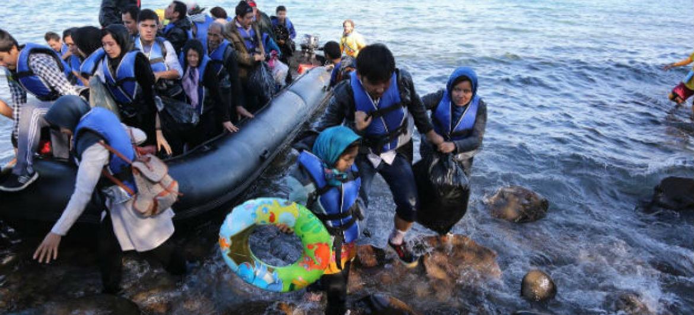 Aumento das chegadas de migrantes e refugiados à Grécia. Foto: OIM/Francesco Malavolta