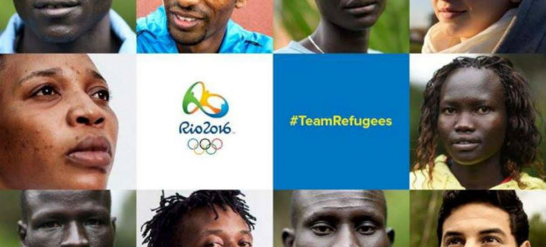 Atletas da Equipe Olímpica de Atletas Refugiados dos Jogos do Rio 2016. Imagem: Acnur