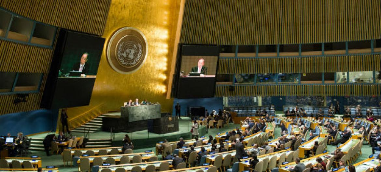Sala da Assembleia Geral da ONU. Foto: ONU/Rick Bajornas