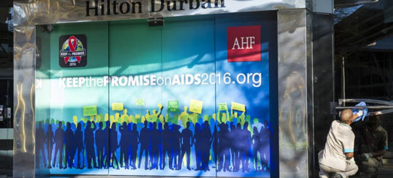 21ª Conferencia Internacional sobre a Aidsem Durban, na África do Sul. Foto: ONU/Rick Bajornas