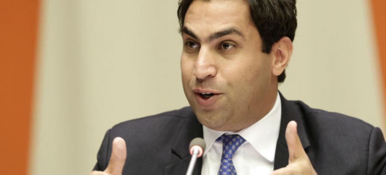 Ahmad Alhendawi. Foto: ONU/Evan Schneider