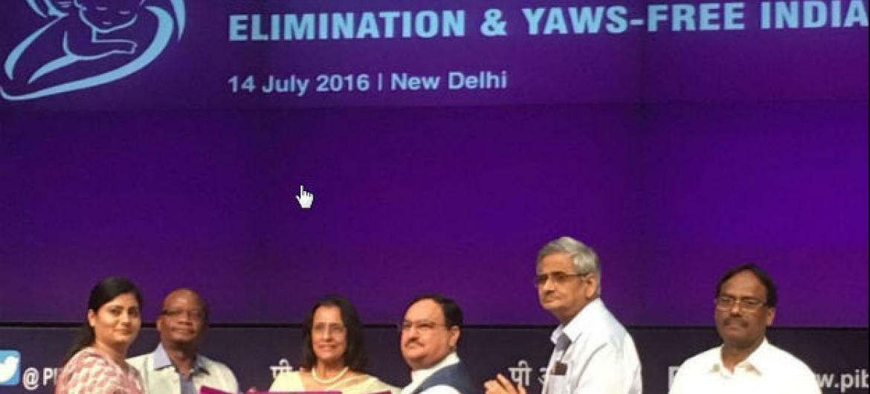 Índia é certificada pela OMS pela eliminação da bouba e do tétano materno e neonatal. Foto: OMS WHO Sudeste Asiático
