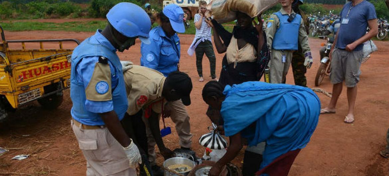 Complexo da ONU em Juba abriga civis. Foto: Unmiss