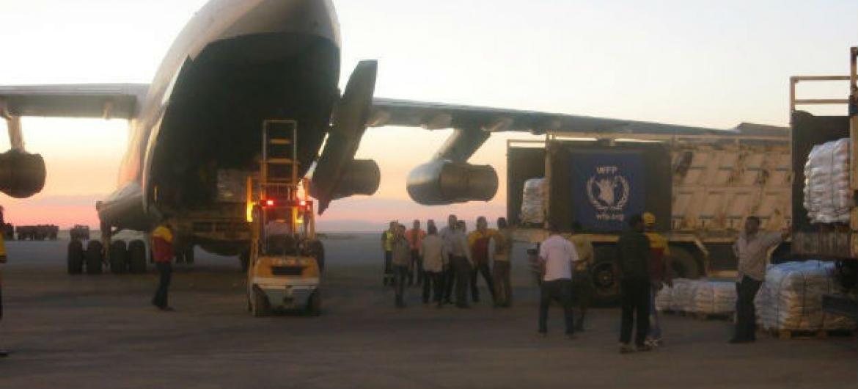 Avião do PMA chega ao nordeste da Síria com toneladas de alimentos. Foto: ©WFP