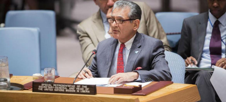 Farid Zarif em reunião no Conselho de Segurança. Foto: ONU/Manuel Elias