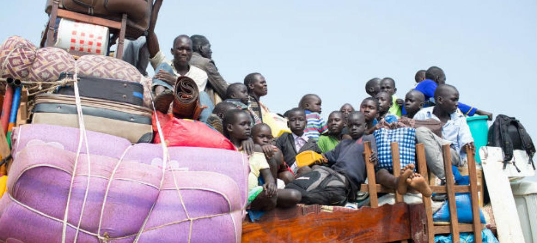 Refugiados sul-sudaneses no Uganda. Foto: Acnur/Will Swanson