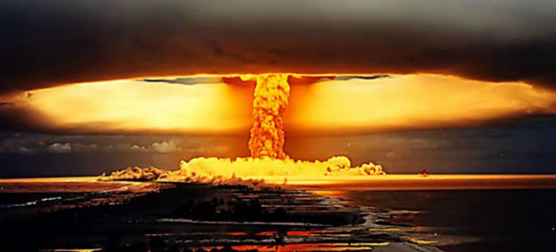 Teste nuclear na Polonésia Francesa. Foto: Ctbto