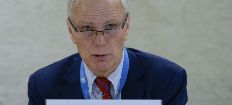 Philip Alston,relator das Nações Unidas sobre pobreza extrema. Foto: ONU/Jean-Marc Ferré