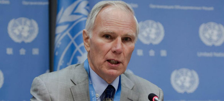 Relator especial da ONU, Philip Alston. Foto: ONU/Loey Felipe
