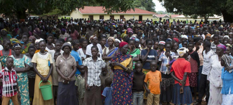 Milhares de deslocados internos na cidade de Yei, Sudão do Sul. Foto: Acnur/Rocco Nuri