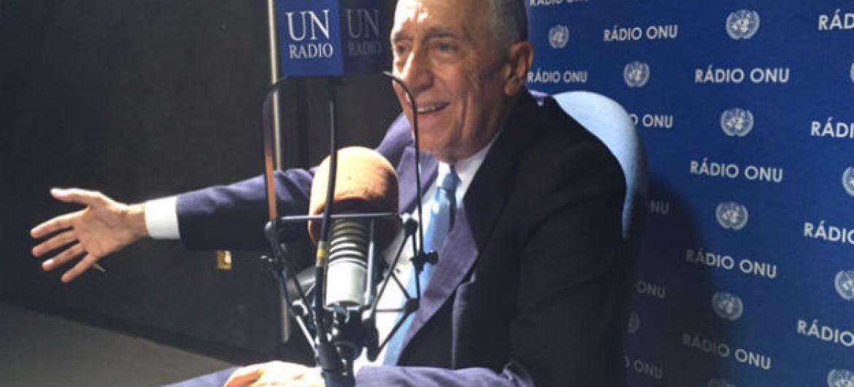 Marcelo Rebelo de Sousa durante entrevista à Rádio ONU em setembro de 2016. Foto: Rádio ONU