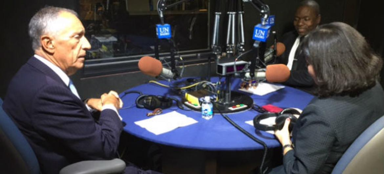Marcelo Rebelo de Sousa em entrevista à Rádio ONU. Foto: Rádio ONU