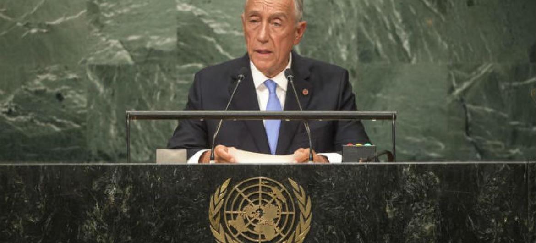 Marcelo Rebelo de Sousa discursa na 71ª sessão da Assembleia Geral da ONU.Foto: ONU/Cia Pak