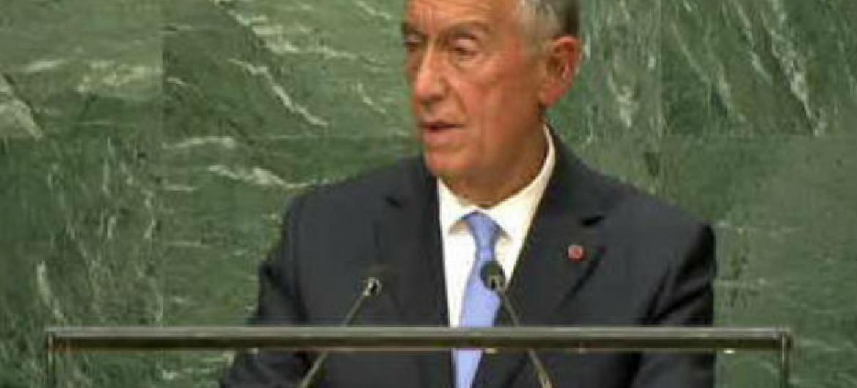 Marcelo Rebelo de Sousa discursa na Assembleia Geral das Nações Unidas. Foto: Reprodução vídeo