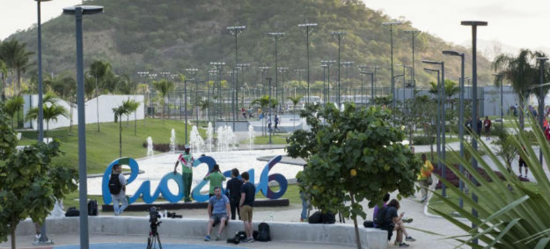 Vila Olímpica no Rio de Janeiro. Foto: ONU/Mark Garten
