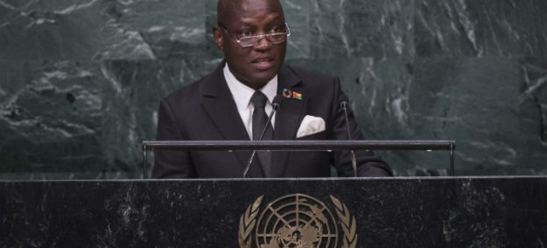José Mário Vaz durante discurso na 71a Assembleia Geral. Foto: ONU/Amanda Voisard