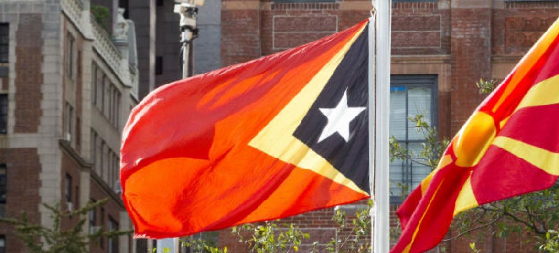 Bandeira do Timor-Leste. Foto: ONU/Loey Felipe