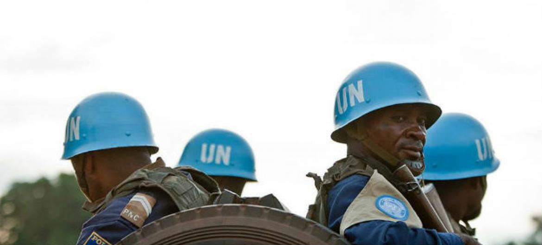 Soldados de paz da Minusca em patrula na República Centro-Africana. Foto: Minusca.