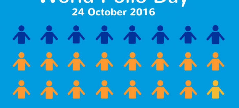 Dia Mundial contra a Poliomielite.Imagem: OMS