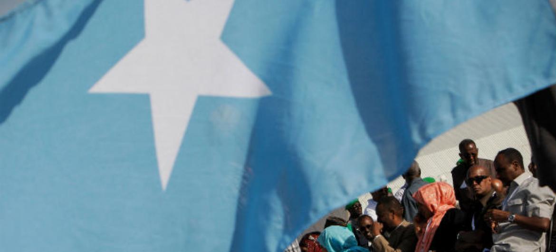 Bandeira da Somália. Foto: ONU/Stuart Price