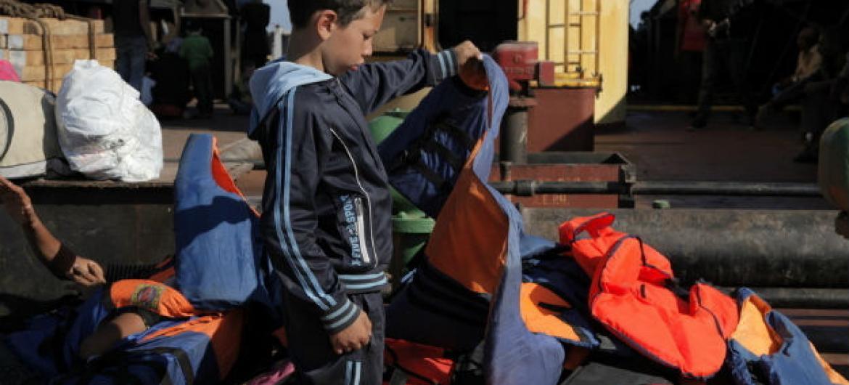 Crianças representam 28% das vítimas de tráfico a nível global. Foto: OIM/Francesco Malavolta 2014