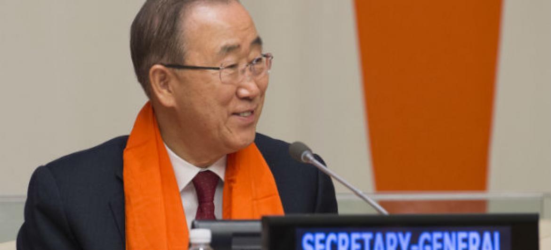 """A ONU escolheu a cor para celebrar a data porquê o laranja é uma cor vibrante, simbolizando um """"futuro brilhante para mulheres e meninas"""".Foto: ONU/Eskinder Debebe"""