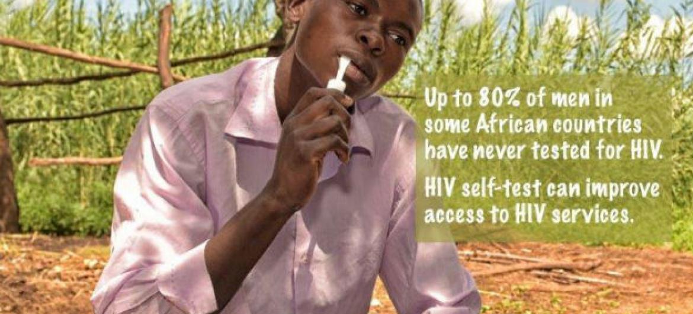 O teste de HIV é simples, pode ser feito usando saliva ou sangue, retirado de uma picada no dedo, como é feito com o teste de diabetes. O resultado demora cerca de 20 minutos ou menos. Foto: OMS