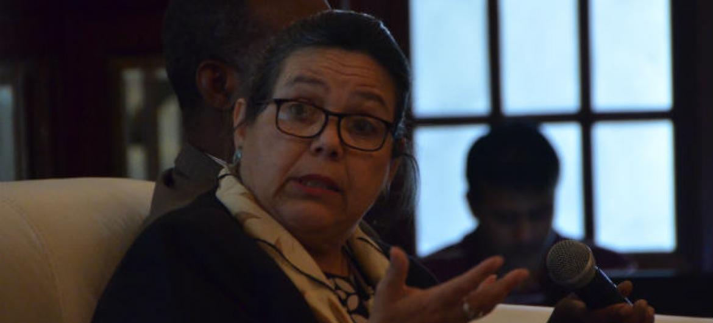 Coordenadora residente das Nações Unidas em Moçambique, Márcia de Castro. Foto: Rádio ONU/Ouri Pota