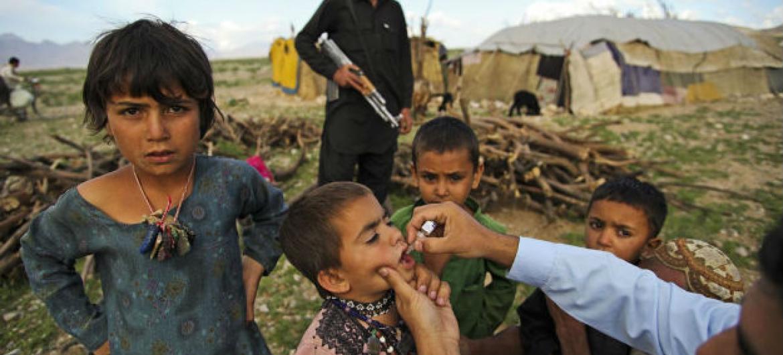 Campanha de vacinação contra a pólio. Foto: Unicef/Zaidi