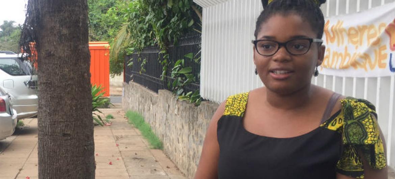 A voluntária da ONU Mulheres em Moçambique Adolores Guimarães. Foto: Rádio ONU