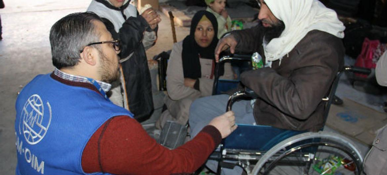 Civis que deixaram Alepo. Foto: OIM Síria