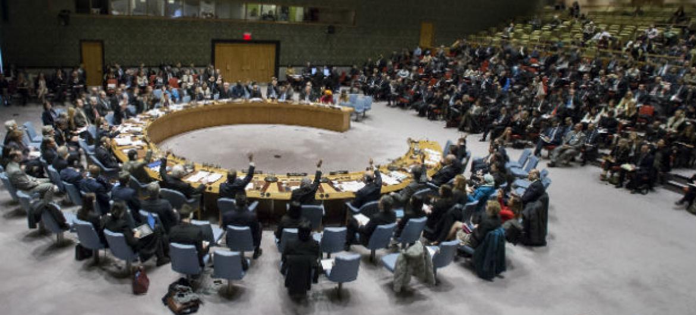 Reunião no Conselho de Segurança nesta terça-feira. Foto: ONU/Manuel Elias