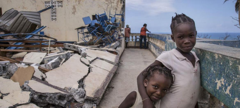 A representante do Unicef afirmou que escolas, hospitais e residências foram destruídas pelo furacão Matthew. Foto: Unicef/LeMoyne