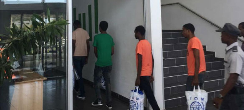 Migrantes da Etiópia saem de Moçambique e retornam para casa. Foto: OIM