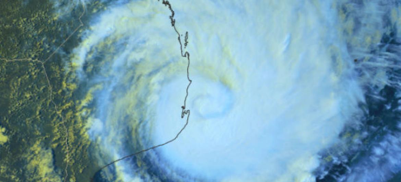 Imagem de satélite do ciclonetropical Dineo. Foto: OMM