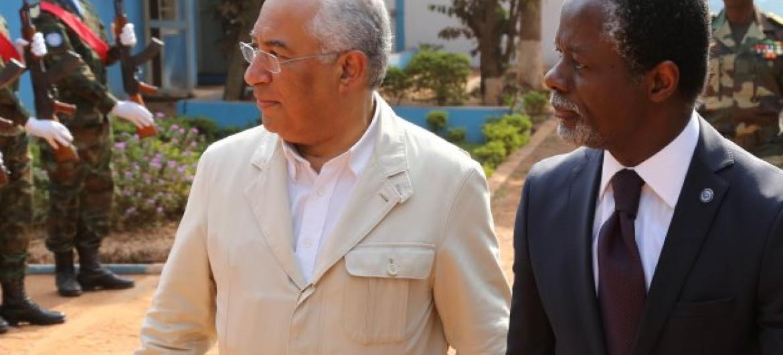 Primeiro-ministro António Costa e chefe da Minusca, Parfait Onanga-Anyanga. Foto: Minusca.